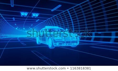 警察 車 トンネル 実例 通り 芸術 ストックフォト © bluering