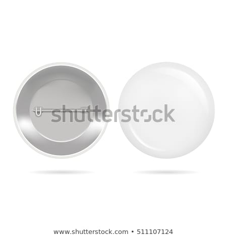 blank white badge vector realistic illustration clean empty pin button mock up isolated stock photo © pikepicture