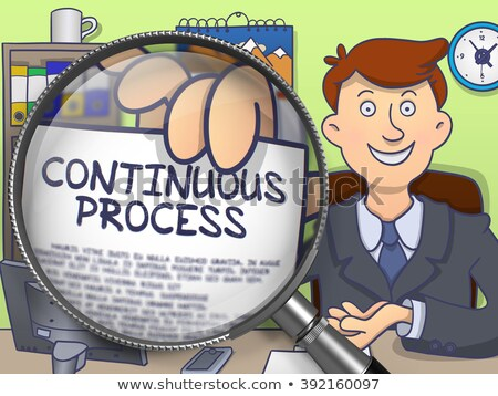 Continuous Process through Magnifying Glass. Doodle Concept. Stock photo © tashatuvango