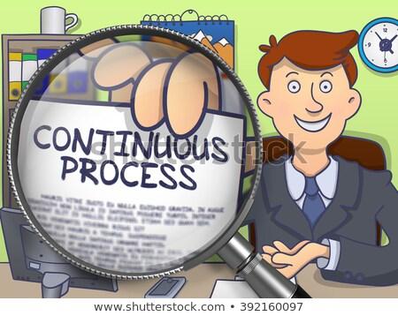 Continuous Process through Magnifying Glass. Doodle Concept. Stock photo © tashatuvango