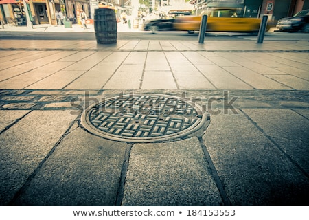 Strada urbana marciapiede pop art retro costruzione città Foto d'archivio © studiostoks