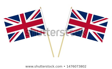 groot-brittannië · vlag · achtergrond · Blauw · golf · zijde - stockfoto © stevanovicigor