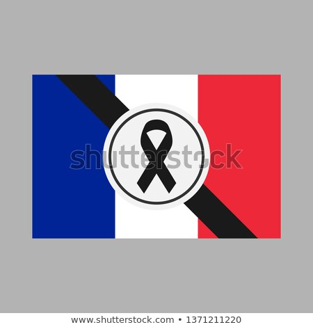 Black flag symbol of grief. Black ribbon. Vector illustration Stock photo © popaukropa