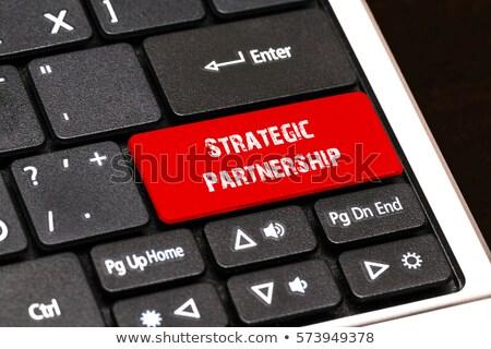 strategic partnership closeup of keyboard 3d stock photo © tashatuvango