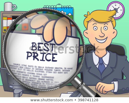 best price through magnifier doodle style stock photo © tashatuvango