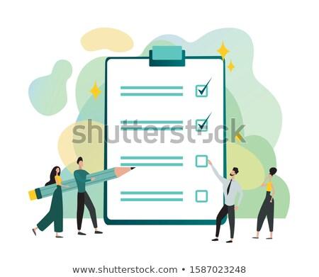 Team Management - Cartoon Illustration on Green Chalkboard. Stock photo © tashatuvango