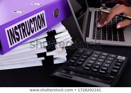blue office folder with inscription archive stock photo © tashatuvango