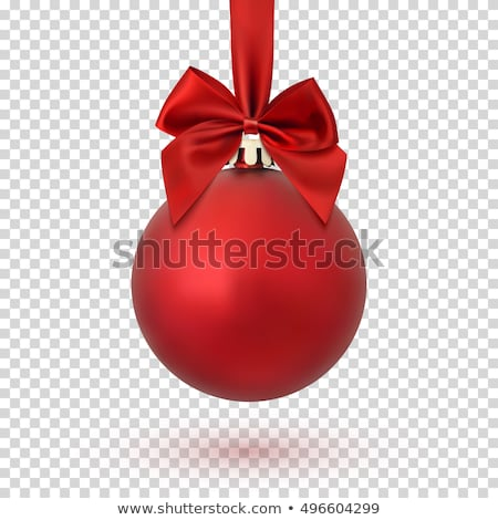 Isolated Red Christmas ball on transparent background. Vector illustration. stock photo © articular