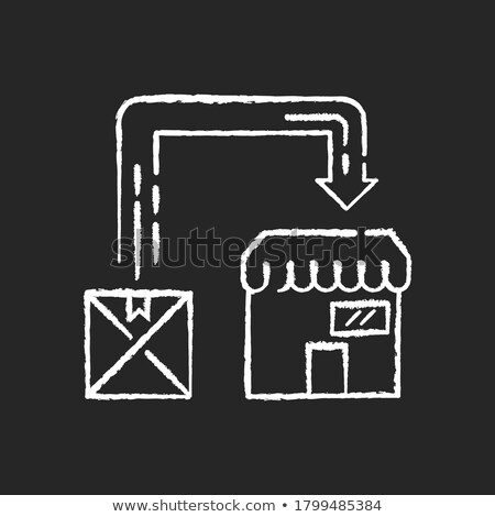Post dienst schoolbord doodle iconen Stockfoto © tashatuvango