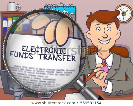 inkomsten · berekening · vergrootglas · doodle · zakenman · kantoor - stockfoto © tashatuvango