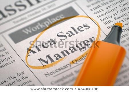 Eladó menedzser keresett kicsi reklámok álláskeresés Stock fotó © tashatuvango