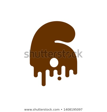 Number 3 Chocolate font. Sweetness numeral Three alphabet. Liqui Stock photo © MaryValery