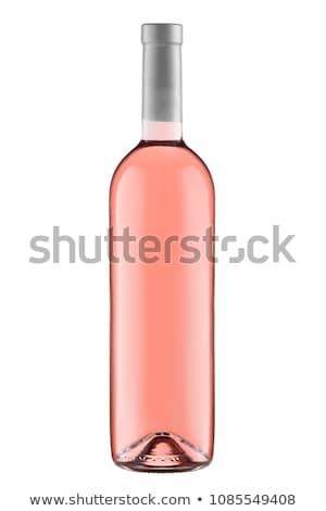 Botella vidrio champán negro vino Foto stock © DenisMArt