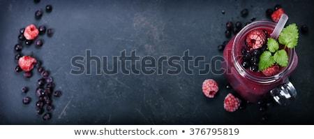 fagyott · bogyók · makró · kilátás · vörös · ribiszke · áfonya - stock fotó © denismart