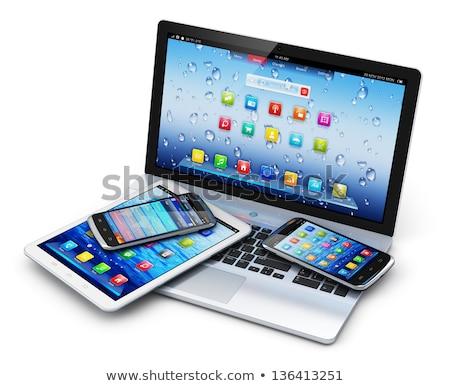 Elektronica technologie laptop computer mobiele telefoon Stockfoto © make