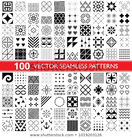 100 vector seamless pattern collection geometric universal patterns and tiles   big pack stock photo © redkoala