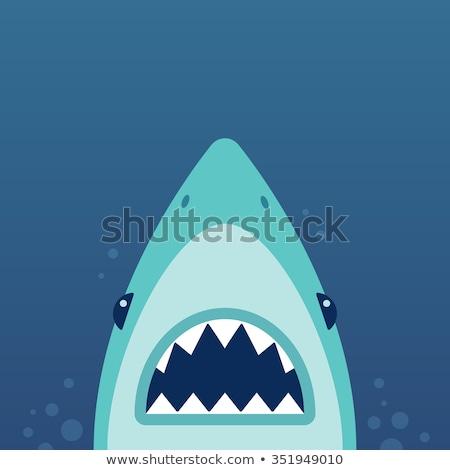 cartoon · poissons · bouche · bulles · sourire - photo stock © NikoDzhi