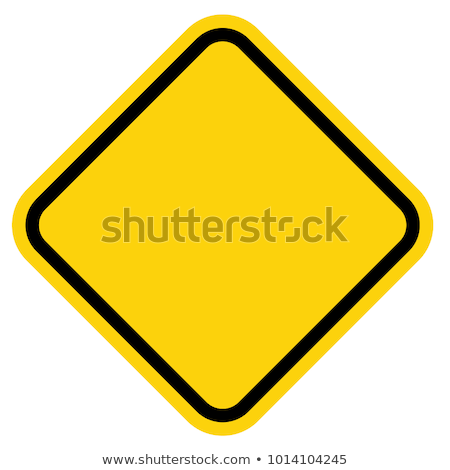 Stock fotó: Yellow Blank Isolated Caution Sign