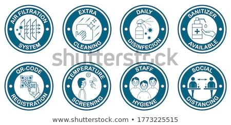 Medical sticker icons set Stock photo © -TAlex-