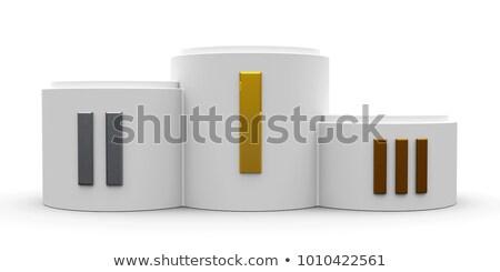 Fehér henger pódium római három rang Stock fotó © Oakozhan