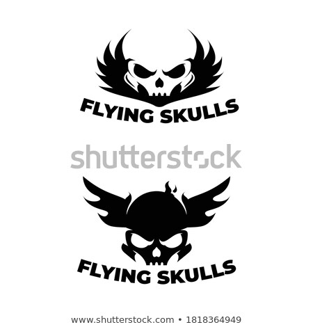 Eagle and skull template for emblem. Hawk logo. Vector illustrat Stock photo © MaryValery