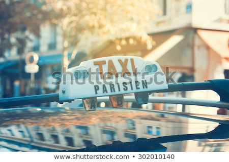 close up of parisian taxi light stock photo © is2