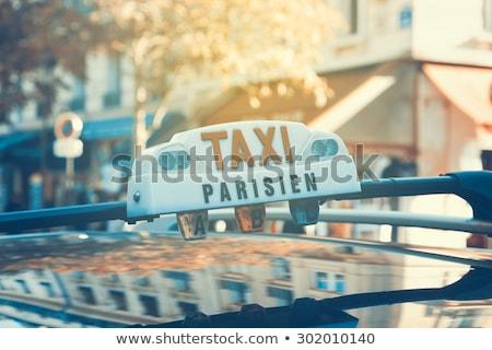 Közelkép párizsi taxi fény szállítás szöveg Stock fotó © IS2