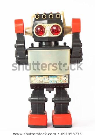 Robot kék szemek fehér illusztráció háttér tudomány Stock fotó © bluering