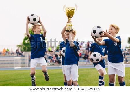 Jongen trofee school onderwijs klas gunning Stockfoto © IS2