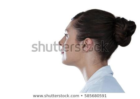 atrakcyjna · kobieta · lekarz · uniform · stetoskop · schowek · szczęśliwy - zdjęcia stock © wavebreak_media