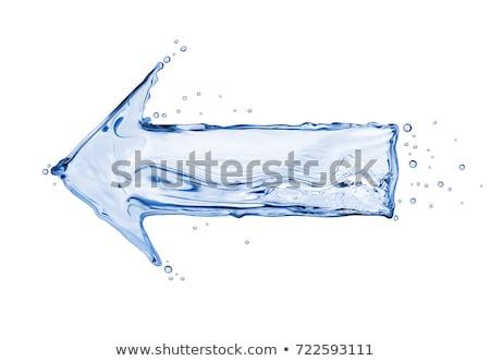 água seta azul isolado branco Foto stock © psychoshadow