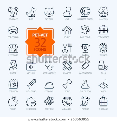 Pet Vet Line Icons Set Stock photo © Anna_leni