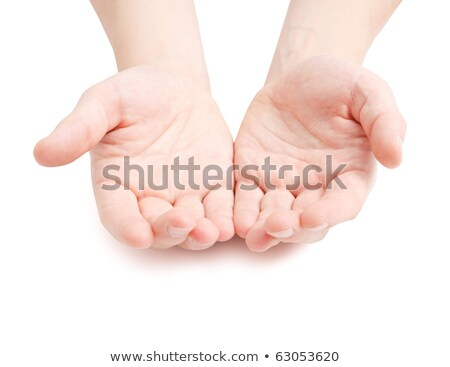 Empty cupped male hands pleading and begging Stock photo © stevanovicigor