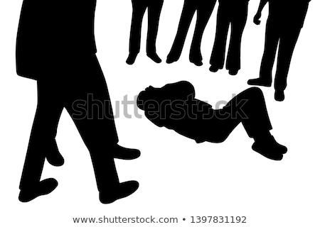 halott · férfi · test · vér · padló · bűnügyi · helyszín - stock fotó © dolgachov
