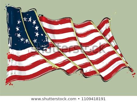 Betsy Ross Artistic Brush Stroke Waving Flag Stock photo © nazlisart