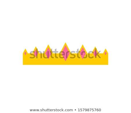 королевский · корона · изолированный · белый · металл - Сток-фото © maryvalery
