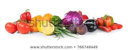 assorted vegetable on white background Stock photo © M-studio