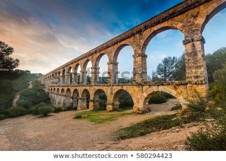 Pont del Diable Roman aqueduct in Tarragona Stock photo © LianeM