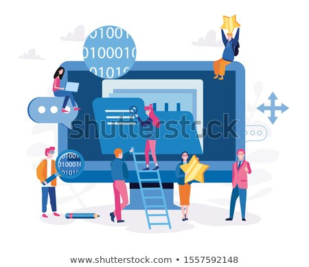 Stock photo: Network Document file vector icon with wifi sign. flat sign for mobile concept and web design. Paper