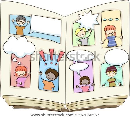 Book Kids Stickman Comic Book Stock photo © lenm