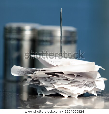 Closeup shot of note spike with receipts on it Stock photo © Nobilior