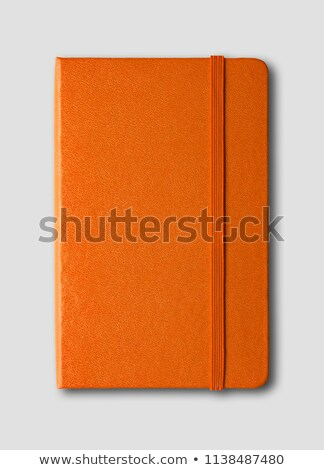 Orange closed notebook isolated on grey Stock photo © daboost
