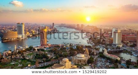 Cairo tv torre luz del sol cielo sol Foto stock © Givaga