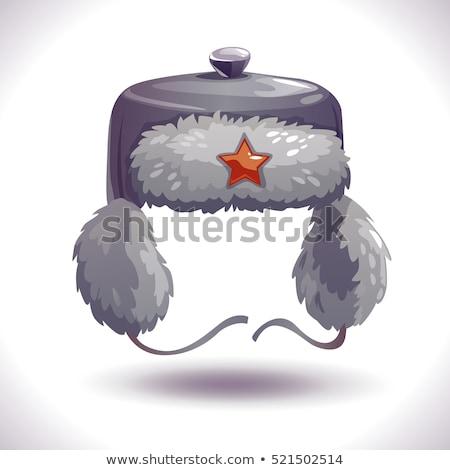 русский Hat звездой комического Cartoon Поп-арт Сток-фото © rogistok