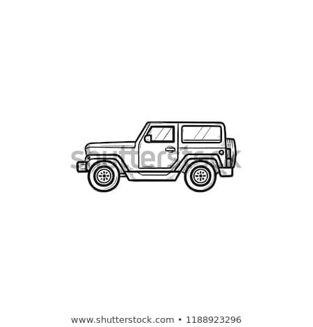 camper trip hand drawn outline doodle icon stock photo © rastudio