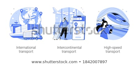 Airport Transportation Set Vector Illustration Stock photo © robuart