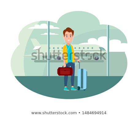 Guy with Baggage at Airport Ready to Leave Country Stock photo © robuart