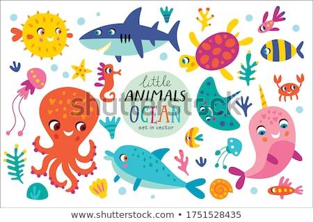 Balık poster örnek grafik öfkeli Stok fotoğraf © cthoman
