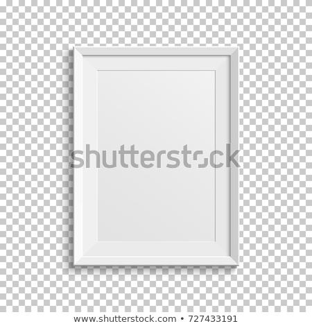 квадратный · кадр · прозрачный · бумаги · белый · искусства - Сток-фото © adamson