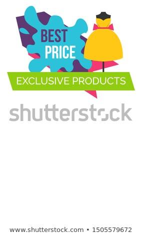 Ekskluzywny produktów logo sukienka premia Zdjęcia stock © robuart